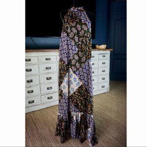 Anthropologie Katrina Patchwork Halter Maxi Dress